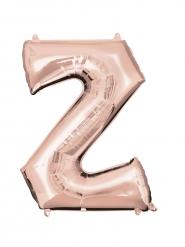 Palloncino alluminio oro rosa lettera Z - 86 cm