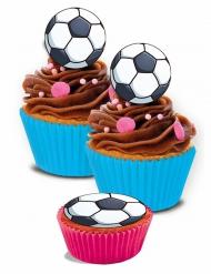 16 mini dischi di zucchero a tema calcio