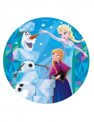 Disco di ostia Frozen™ con le principesse 20 cm
