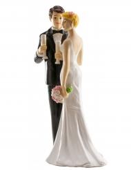 Statuina sposi con champagne
