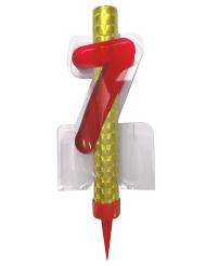 Fontana luminosa rossa numero 7