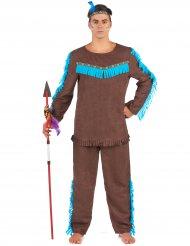 Costume da indiamo marrone per uomo