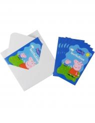 6 inviti di compleanno con buste Peppa Pig™
