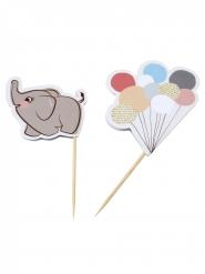 10 decorazioni per torta piccolo elefante