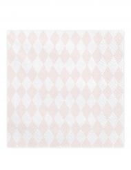 20 tovaglioli rombi rosa e bianchi