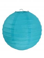 2 lanterne color turchese 20 cm