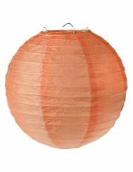 2 lanterne color corallo 20 cm