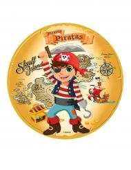 Disco di zucchero tema pirati 16 cm