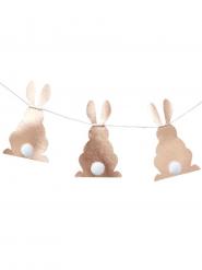 Ghirlanda di carta con coniglietti oro rosa