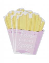16 tovagliolini rosa con patatine Fries before guys