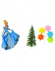 Decorazioni per torta Principesse Disney™ Cenerentola kit 4 pezzi