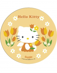 Disco di ostia giallo con Hello Kitty™ 21 cm