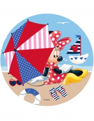 Disco di ostia Minnie™ in spiaggia 21 cm