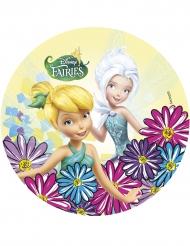 Disco di ostia con fiori e fatina Trilli™ 21 cm