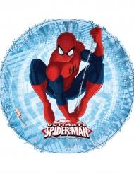 Disco di ostia blu con Spiderman™ 21 cm