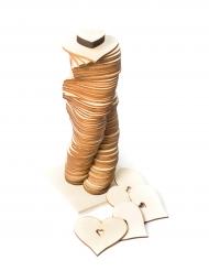 Libro per firme in legno con 80 cuori