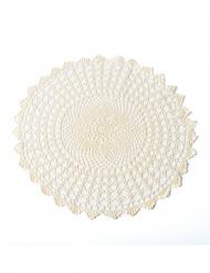 Centrino in maglia avorio 50 cm