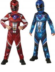 Costume di Coppia Power Rangers™ Rosso e Blu per bambino