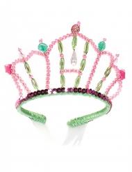 Diadema da principessa sirena rosa e verde