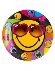 8 piatti in cartone Smiley World™ 23 cm