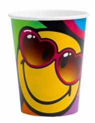 8 bicchieri in cartone Smiley World™