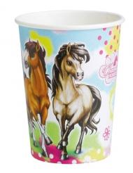 8 bicchieri in cartone Charming Horses™