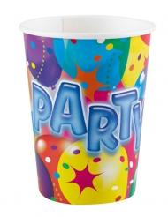 8 bicchieri cartone con palloncini party