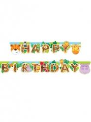 Ghirlanda in cartone Happy Birthday animaletti della giungla