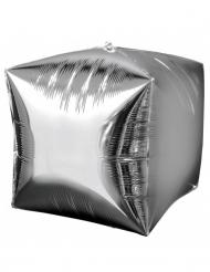 Palloncino in alluminio cubo argentato