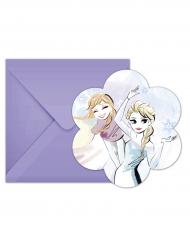 6 inviti di compleanno lilla Frozen™