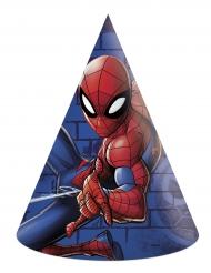 6 cappellini in cartone Spiderman™