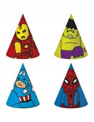 6 cappellini in cartone Avengers™