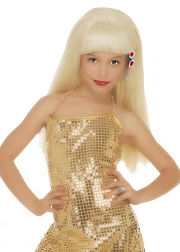 Parrucca bionda bambina glamour