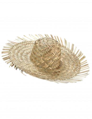 Cappello di paglia adulto in stile Hawaii
