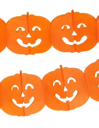Ghirlanda con zucche per Halloween-1