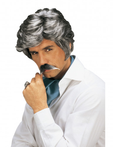 Parrucca e baffi da uomo casanova