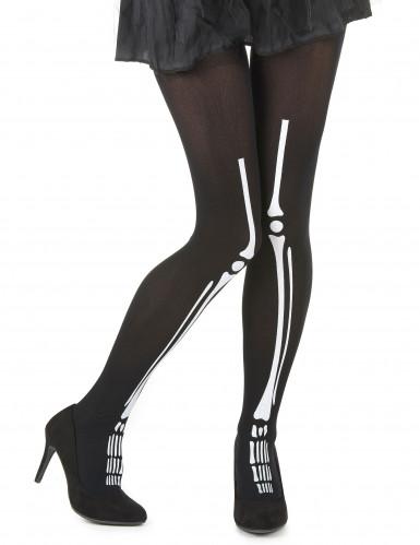 Collant scheletro donna Halloween