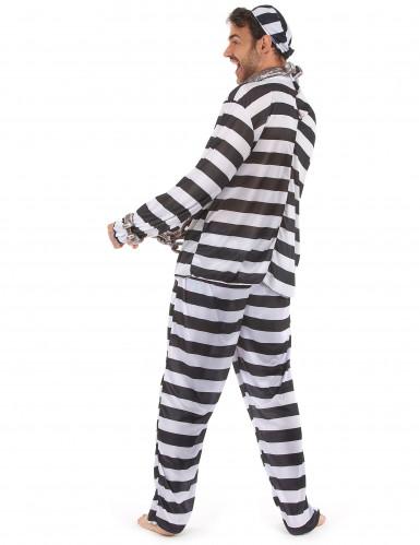 Costume a righe da carcerato per uomo-2