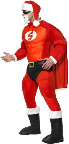 Costume da super Babbo Natale muscoloso per uomo-2