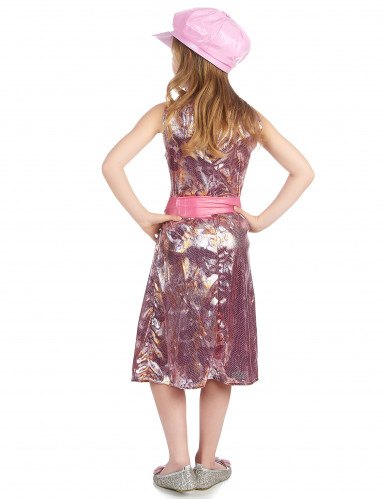 Vestito disco rosa per bambina-2