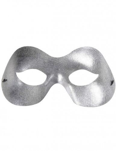 Maschera occhi argentata misura adulti-1