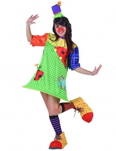 Costume da clown per donna con cerchietto