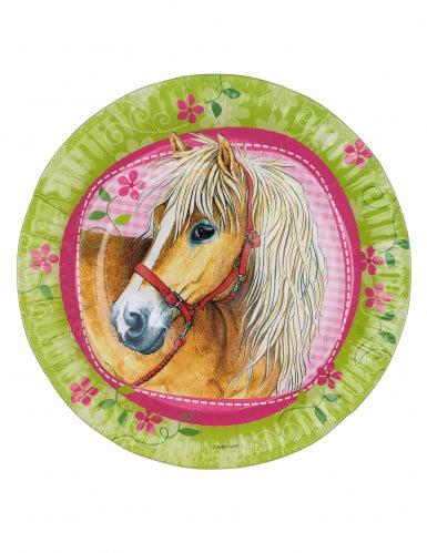 8 piatti usa e getta cavalli