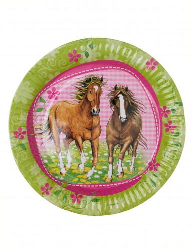 8 piatti usa e getta cavalli-1