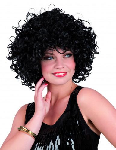 Parrucca da donna riccia nera