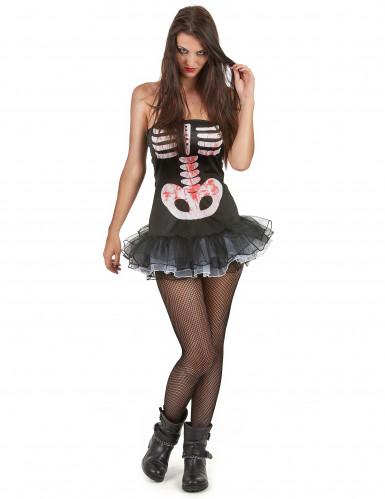 Costume Halloween da scheletro sexy per donna