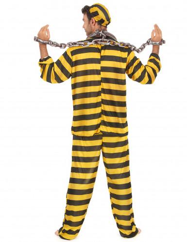 Costume adulto giallo e nero da carcerato-2