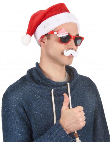 Cappello Babbo Natale luminoso-3