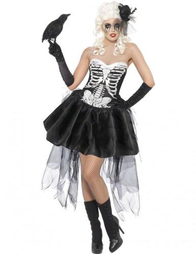 Vestito scheletro macabro donna
