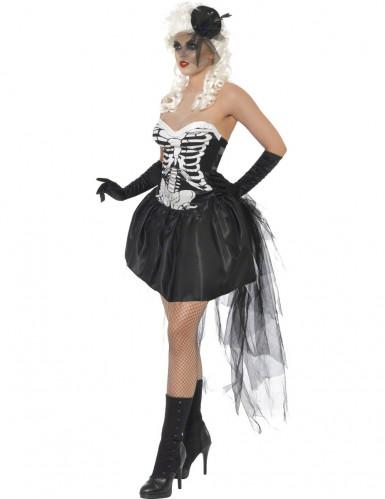 Vestito scheletro macabro donna-1